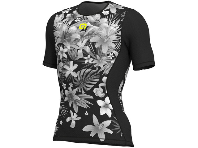 Alé Cycling Intimo Sartana SS Baselayer Herren black-yellow flou